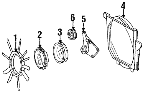 Belts & Pulleys for 1995 Mercedes-Benz E 320 #1