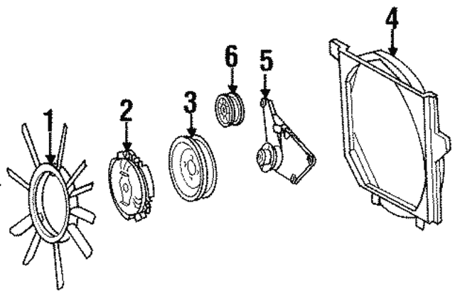 Pulley - Mercedes-Benz (104-205-02-10)