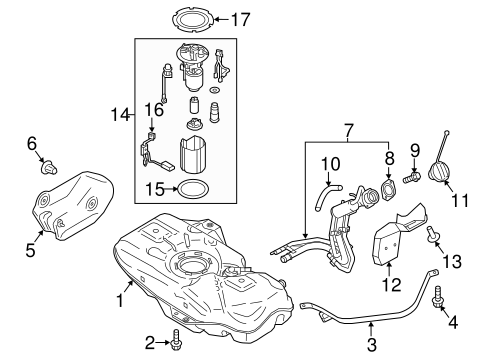 Fuel System Components For 2014 Mitsubishi Mirage De