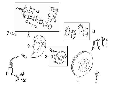Brake Components for 2012 Scion xB #1
