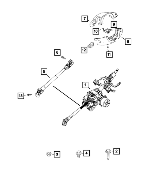 Steering Column and Intermediate Shaft for 2015 Jeep Renegade #0