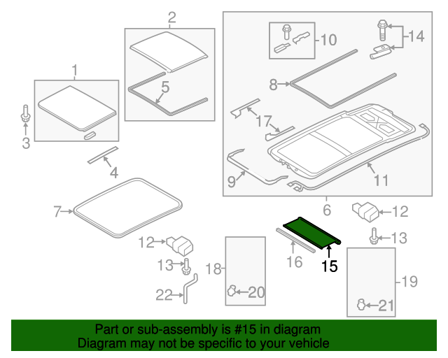 Sunshade - Audi allroad (8K9-877-307-A-QB9)   Gossett Parts