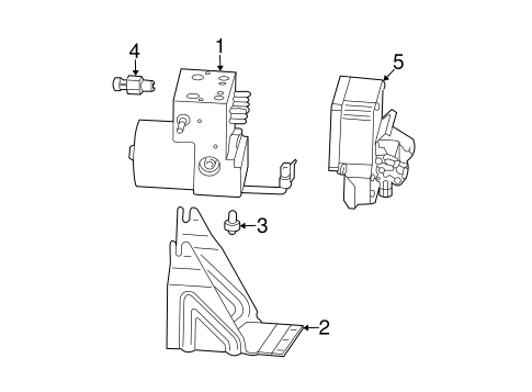 Abs Components For 2003 Cadillac Cts Gm Parts Center