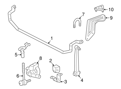 Stabilizer Bar & Components for 2000 Mercedes-Benz C 280 #0