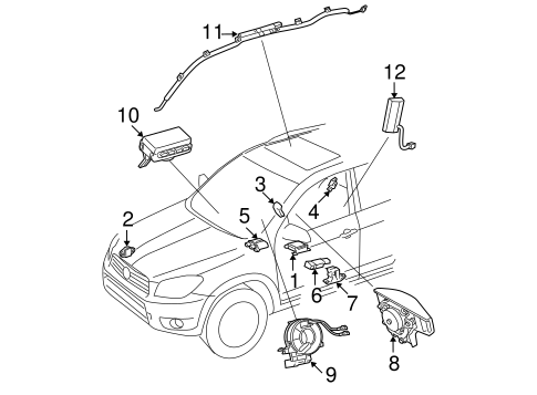 Air Bag Components For 2007 Toyota Rav4