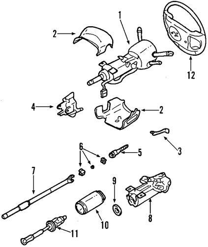 Steering Column For 2000 Pontiac Bonneville Gmpartshouse