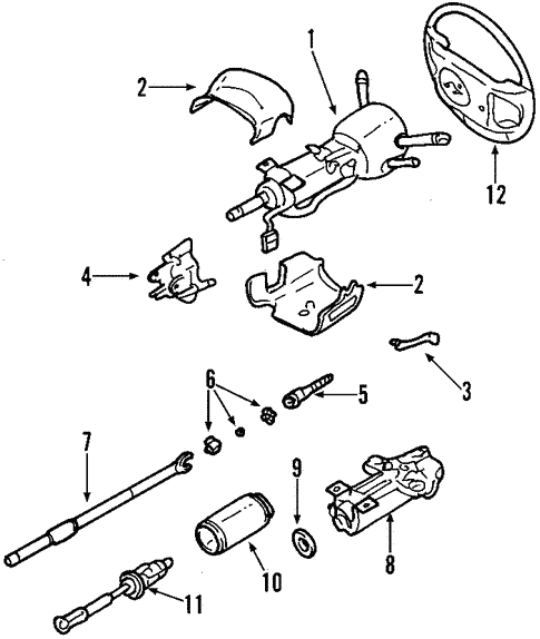 Oem 2000 Buick Lesabre Steering Column Parts