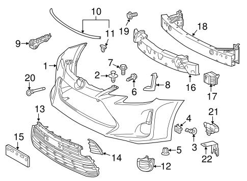 Genuine Oem Bumper Components Front Parts For 2016 Scion Tc Base