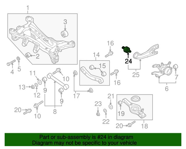 Rear Trailing Control Arm Bushing Right PASSENGR 552753S000 for SONATA 2011-2014