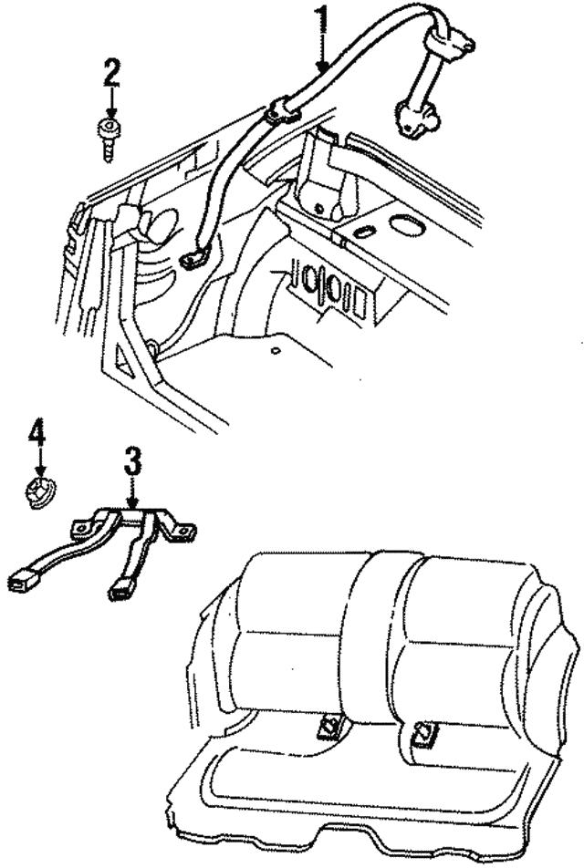 1996 2000 Chrysler Sebring Retractor Assembly Pv581jkae