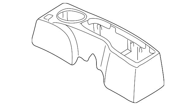 2000 2005 Mitsubishi Eclipse Rear Console Mr791355