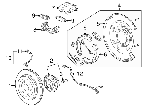 Oem 2011 Cadillac Srx Parking Brake Parts