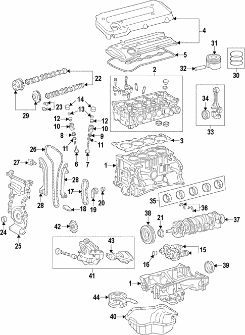Toyotum 2 0l Engine Part Diagram