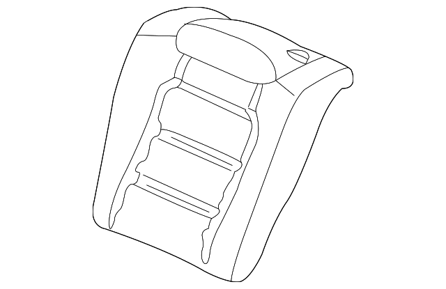 Pad & Frame, R Rear Seat-Back