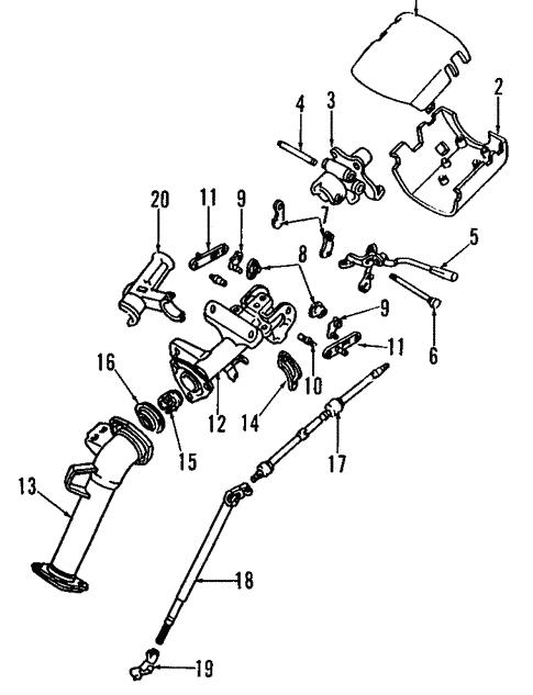 Genuine Oem Steering Column Parts For 1993 Toyota Previa Dx Olathe