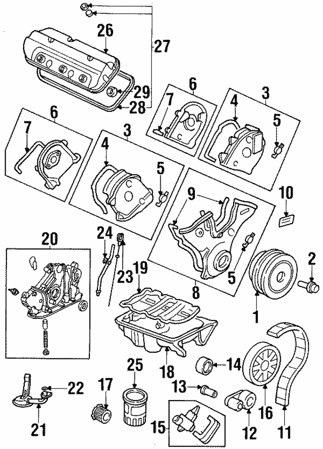1997 2003 Acura Gasket Set Head Cover 12030 P8a A00