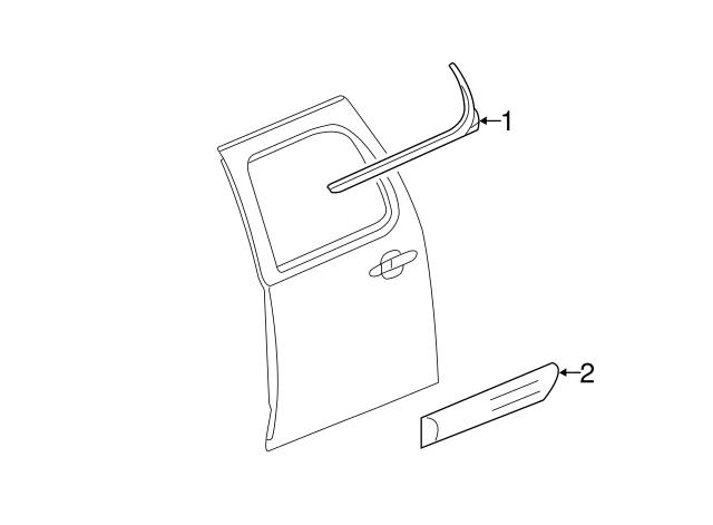 GM OEM Rear Window//Door-Belt Molding Weatherstrip Right 22774087