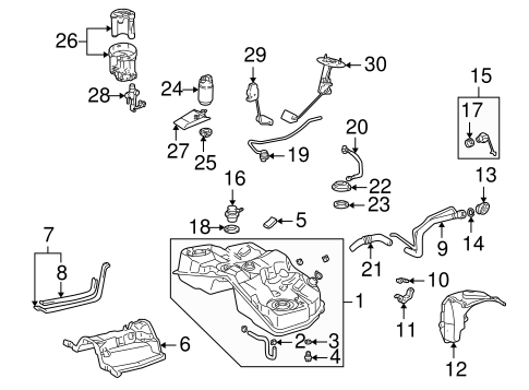 Fuel System Components For 2001 Lexus Is300