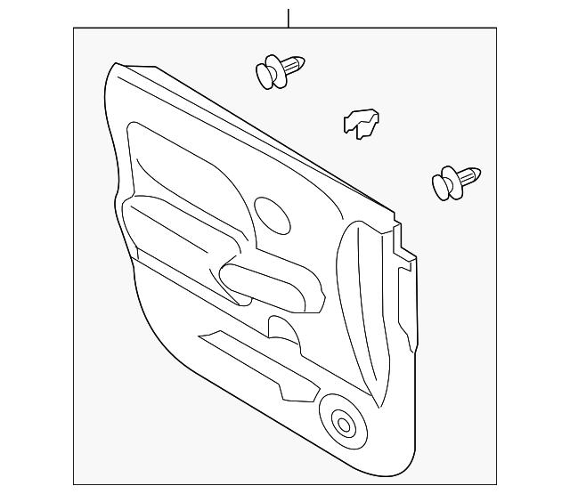 genuine nissan door trim panel 80901