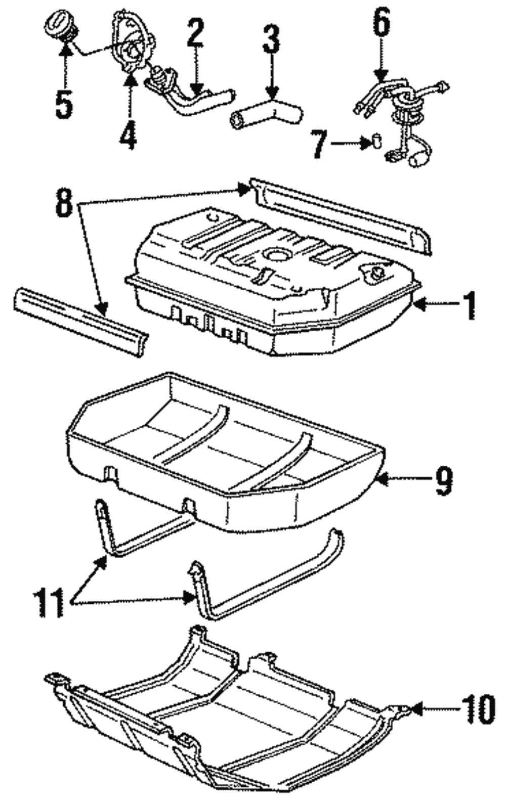 Oem Gm Fuel Tank Filler Pocket Pipe Housing Chevrolet Gmc Oldsmobile 15149668
