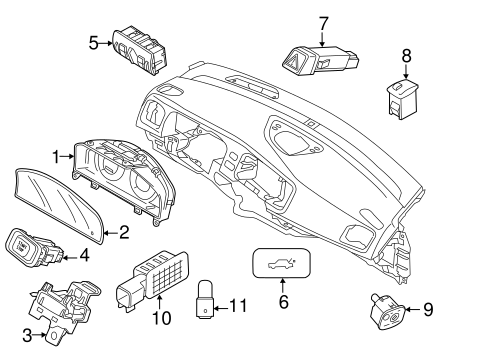 Switches for 2013 Volvo S60 #1