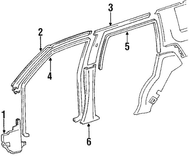 1990 1995 Toyota 4runner Pillar Trim 62414 89102 03