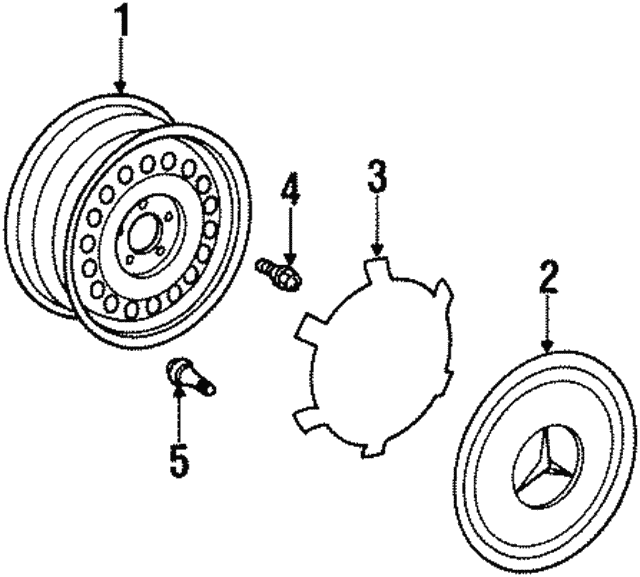 Wheel - Mercedes-Benz (129-400-02-02)