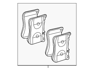 Disc Brake Pad Set - Mercedes-Benz (007-420-71-20)