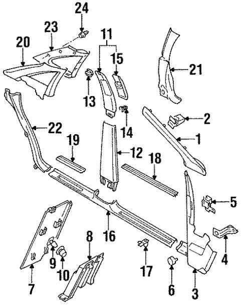 interior trim pillars for 1995 audi a6 audi parts Audi Body Parts interior trim pillars for 1995 audi a6