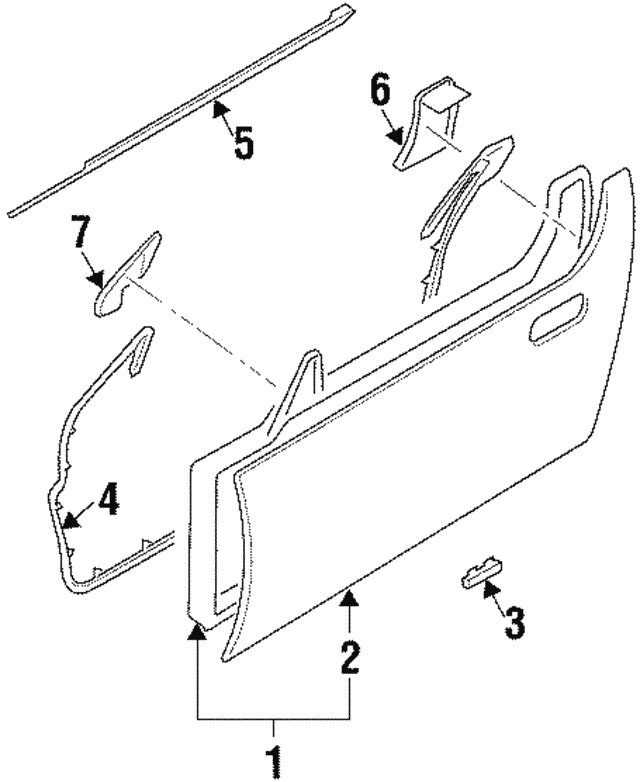 Door Weather-Strip - Nissan (80831-30P00)