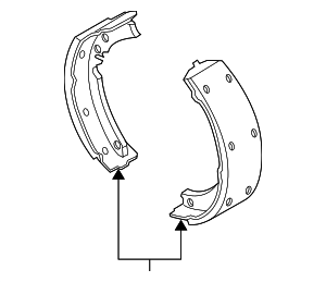 Brake Shoes - GM (25960262)