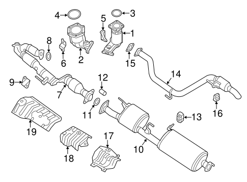 Exhaust Components For 2013 Infiniti Jx35