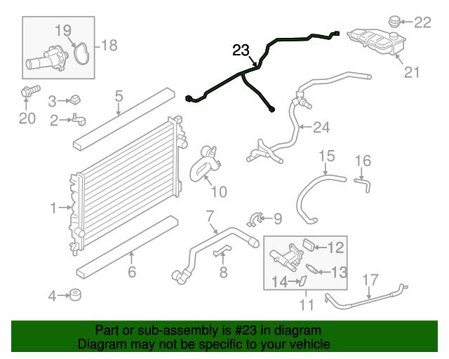 For 2013-2016 Ford Escape A//C Refrigerant Suction Hose 58844ZV 2014 2015