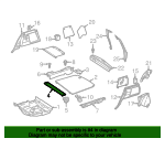 Front Trim - Mercedes-Benz (164-680-13-02-8M27)