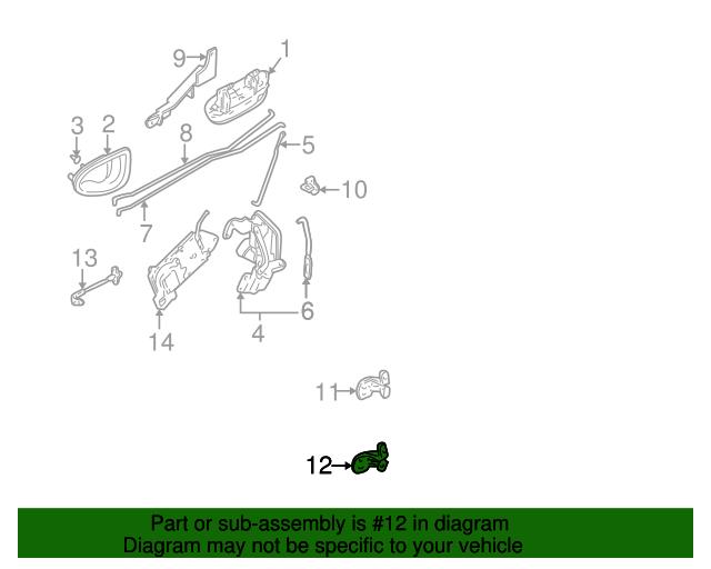 Genuine Hyundai 79350-25000 Door Hinge Assembly