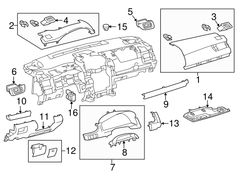 ELECTRICAL/HEADLAMP COMPONENTS for 2015 Toyota Camry #2