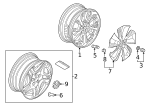 Nut, Wheel - Honda (90381-TRT-N01)