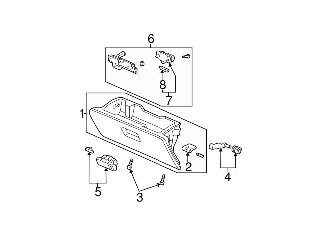 Honda Genuine 77541-S9A-J00ZZ Glove Box with Lamp Striker