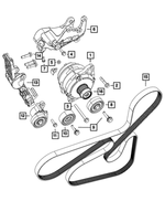 Serpentine Belt - Mopar (4891721AB)
