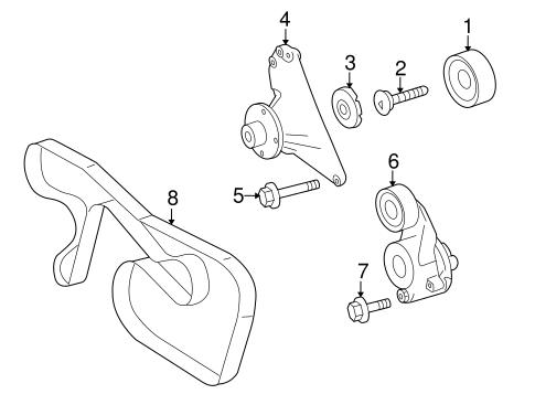 Belts Pulleys For 2009 Dodge Sprinter 3500
