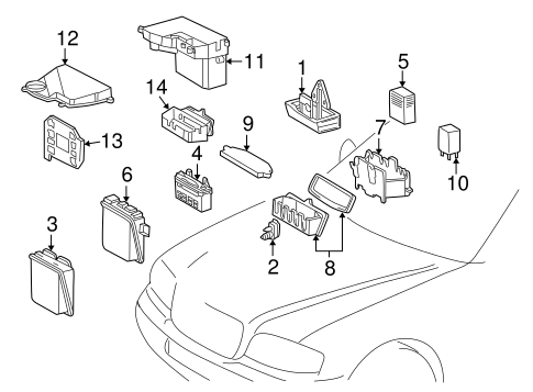 Electrical Components for 1998 Mercedes-Benz C 230 #1