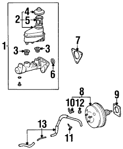 Hydraulic System For 2000 Chevrolet Prizm Gmpartshouse