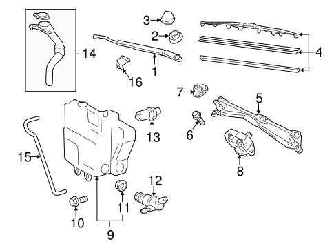BODY/WIPER & WASHER COMPONENTS for 2015 Scion iQ #1
