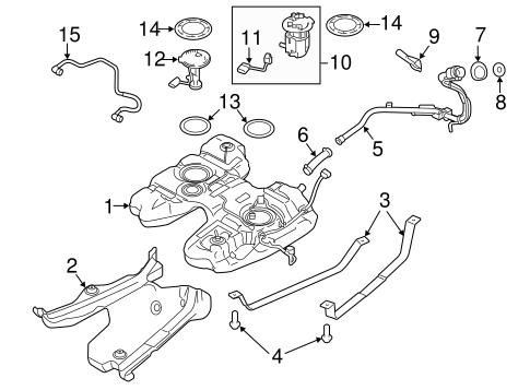 Fuel System/Fuel System Components for 2013 Ford Edge #2