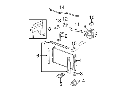 radiator & components for 2006 chevrolet cobalt #1