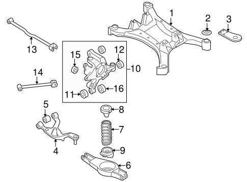 Rear Suspension For 2012 Nissan Maxima