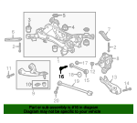 Bolt, Rear Control Arm Adjust