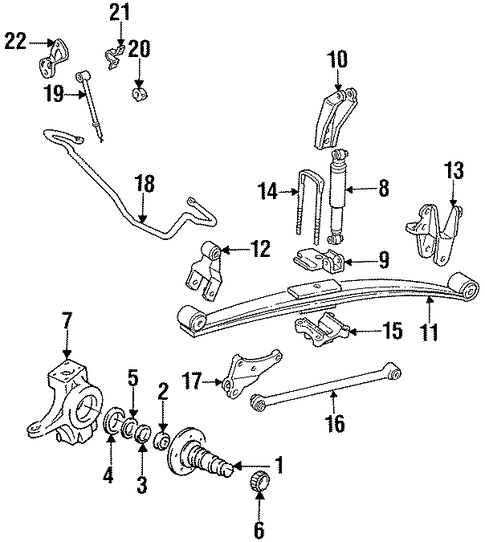 Front Suspension/Suspension Components for 1997 Ford F-350 #4