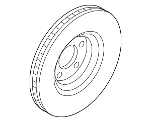 Disc Brake Rotor - Ford (K2GZ-1125-A)