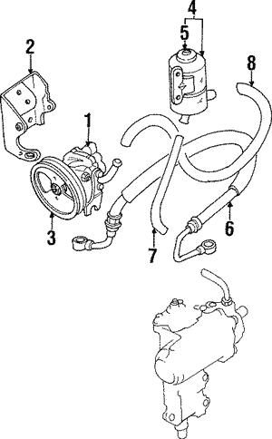1992 1998 Suzuki Steering Gear 4860077e50